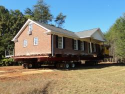 Brick masonry house move in Oak Ridge, NC